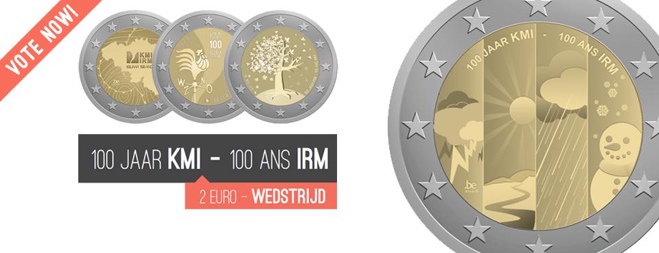 Geselecteerd voor de 2€ herdenkingsmunt ter ere van 100 jaar KMI!